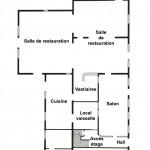 Plan du rez de chaussée du Gîte du Lac de Monampteuil