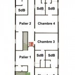 Plan du premier étage du Gîte du Lac de Monampteuil